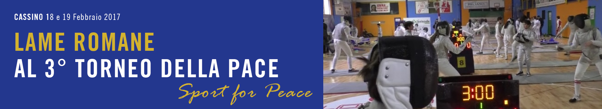 Lame Romane al Torneo della Pace - Sport for Peace - Cassino
