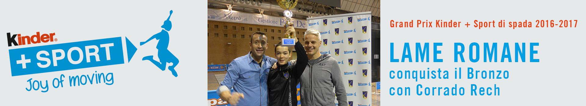 Corrado Rech conquista il bronzo al Grand Prix Kinder + Sport